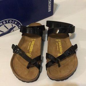 97bfa0ffce3 Birkenstock Shoes - BIRKENSTOCK Yara Black Patent Birko Flor EU 37
